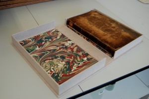 Clamshell with book