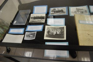 in the right case, there are items that support to of Ms. Spoden's books. Here you see photographs from Historic Places of Sullivan County.
