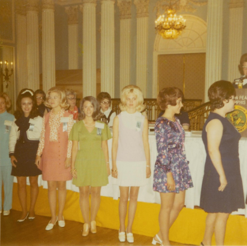 State Convention in Memphis, TN, 1971. Annie Reid is third from right.