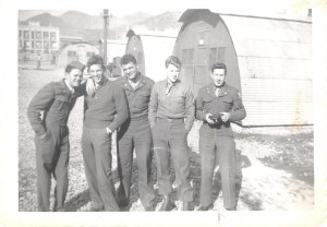 My Dad is standing far right with some of his barracks buddies.