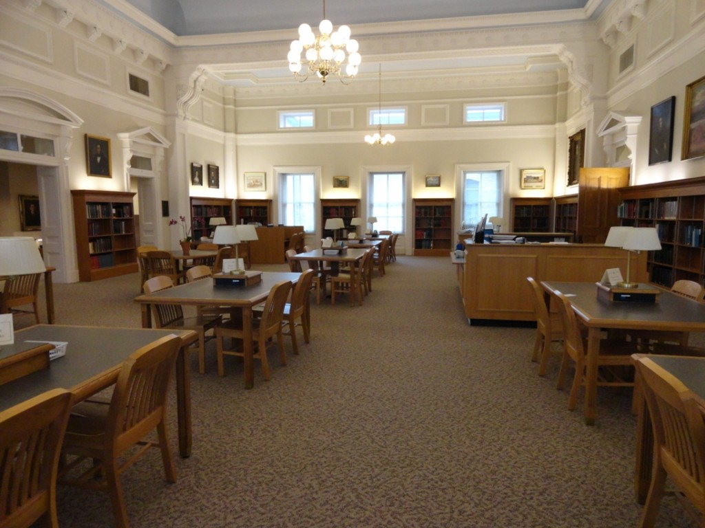 The old courtroom turned research room. Beautiful.