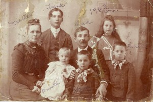 With my great-grandmother Elizabeth and Frank, Nora, Kenneth, Walter, and Leonard.