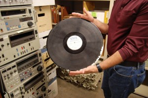 "The old format for recording radio broadcasts. It's the biggest ""record"" I've ever seen."