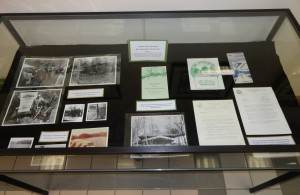 The right case features items from the Bays Mountain Park Records (KMMC 12).