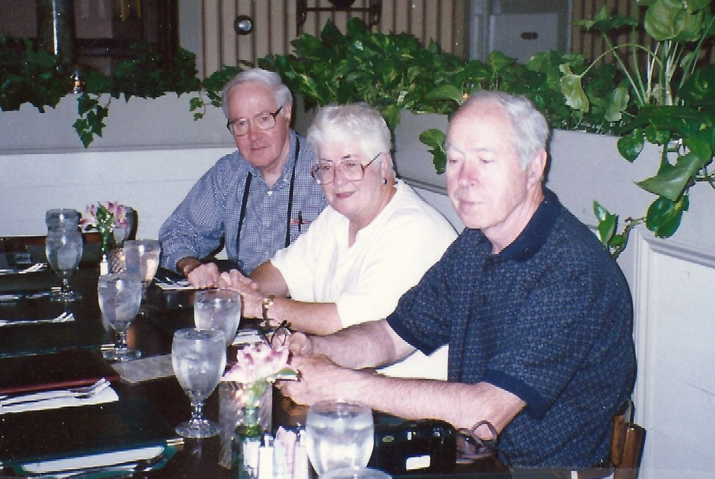 My mentor and cousin, Robert J. Gillis, with two of his siblings, Martha and Gregory, 1997.