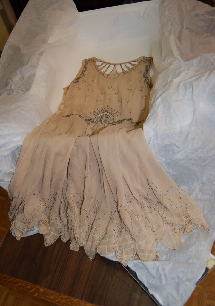 Marie Shortt donated the dress her mother Mary Nell Reynolds wore for her graduation from Elizabethton High School in 1928.