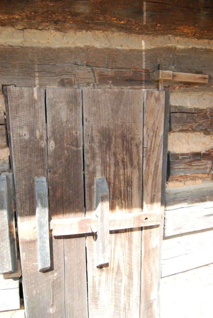 The original door of the smokehouse.