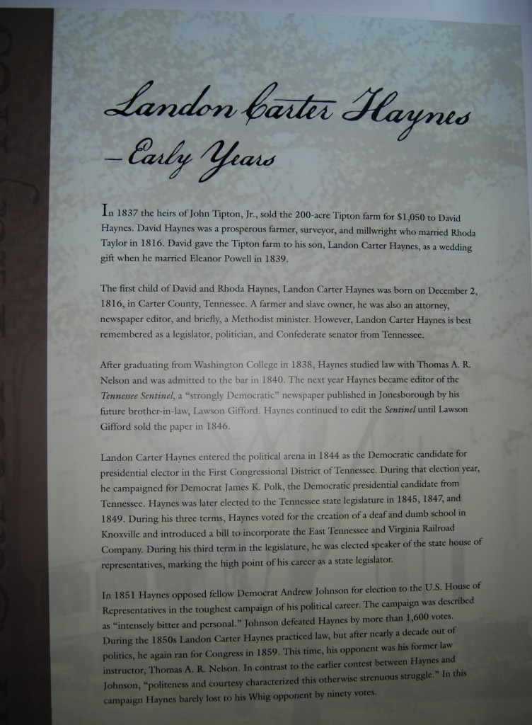 Landon Carter Haynes was a lawyer, a member of the state legislature and a railroad advocate.