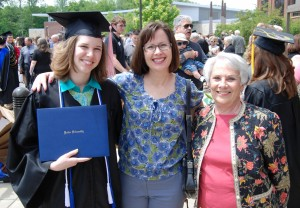 Granddaughter Anna on the day of her college graduation, daughter Kari, Bar Dee