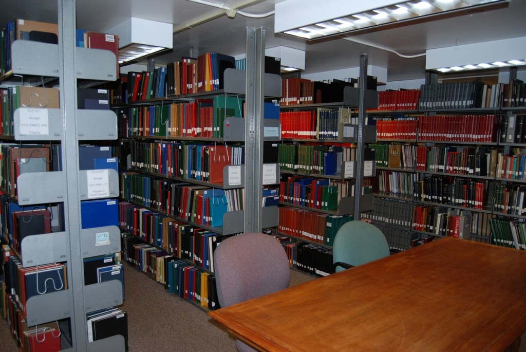 The reference library has an impressive collection of donated family histories and state and local histories from all eight neighboring states.