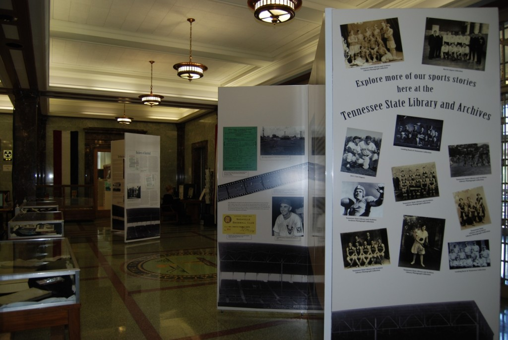 The current exhibit highlights Tennessee's baseball history.