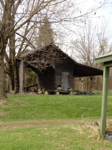 The barn at the rear of the property.