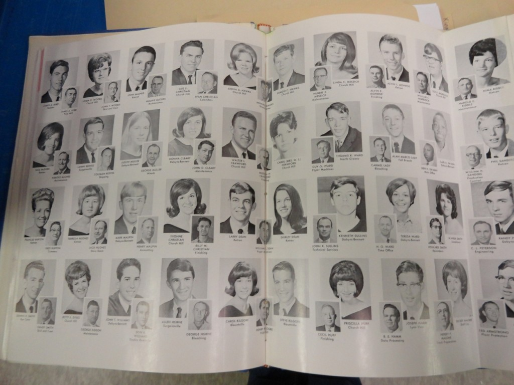 This 1969 layout lists a student's name and school along with the employee's name and job description.