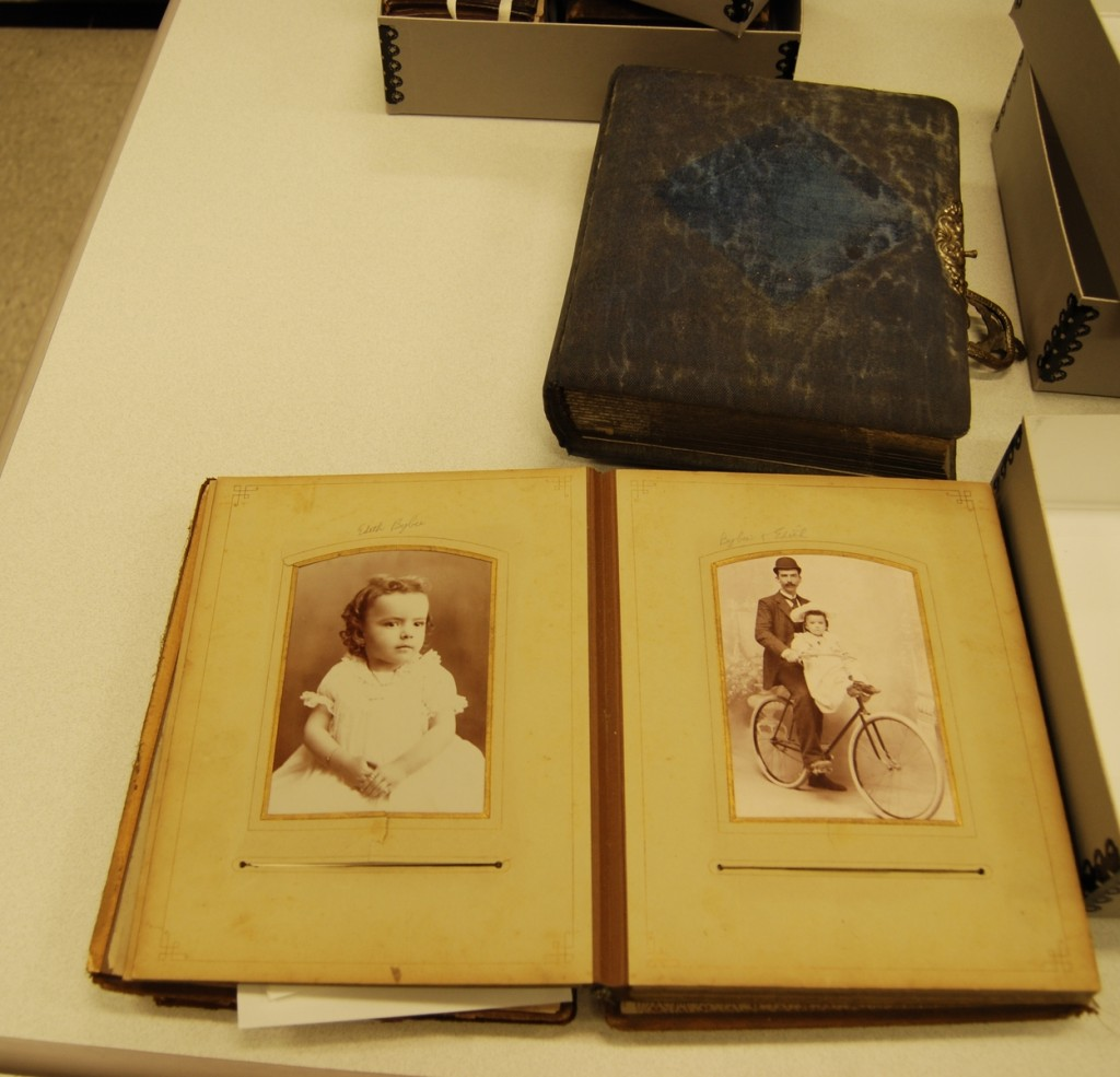 Special photograph albums from some of the family collections in the archives.