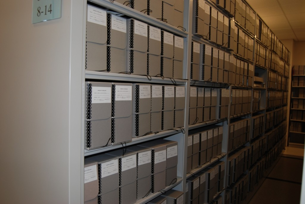 Just one row of Sen. Quillen's papers.
