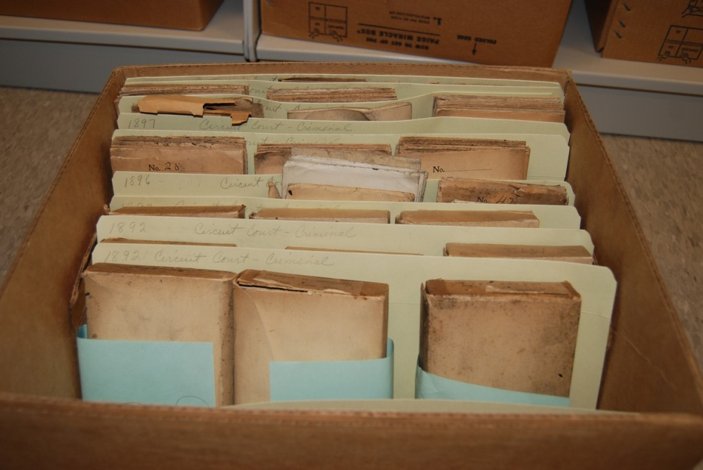 19th century court documents.