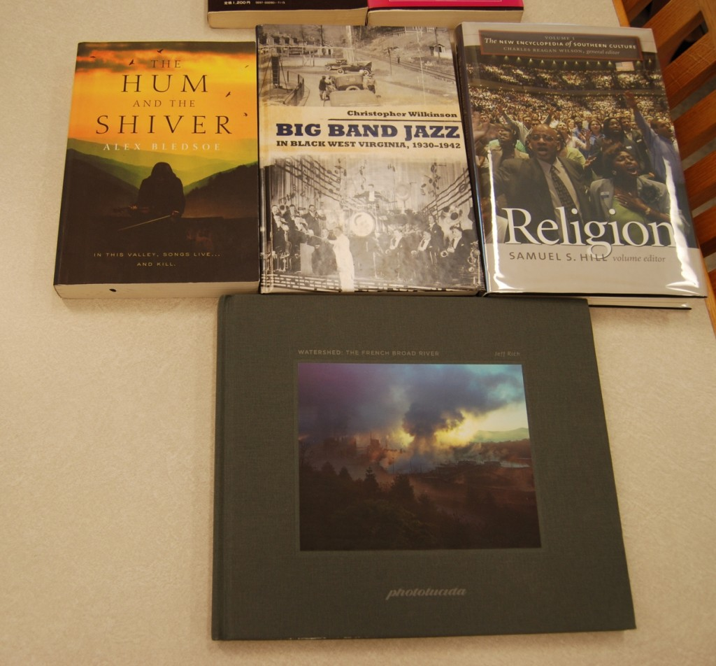 A sampling of special collection books.