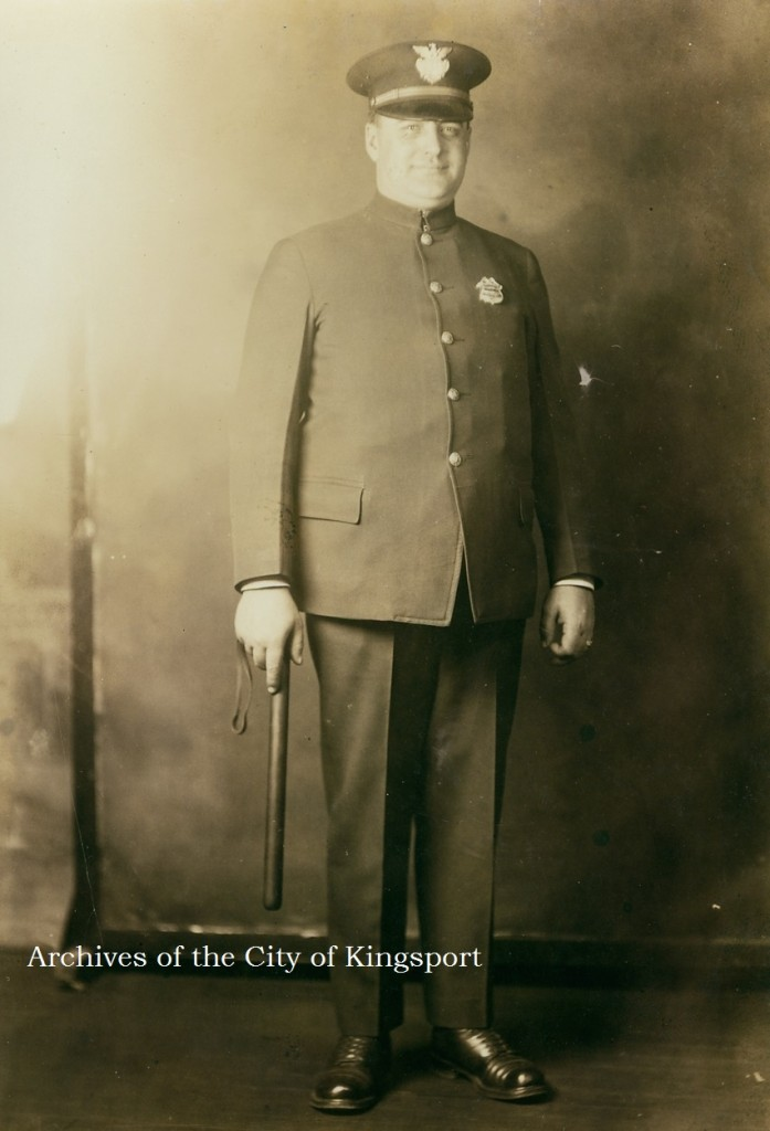 Kingsport Police Officer Joe Marrs, 1925.
