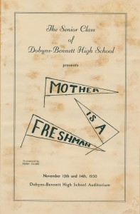 "DBHS 1950 production of ""Mother is a Freshman"""