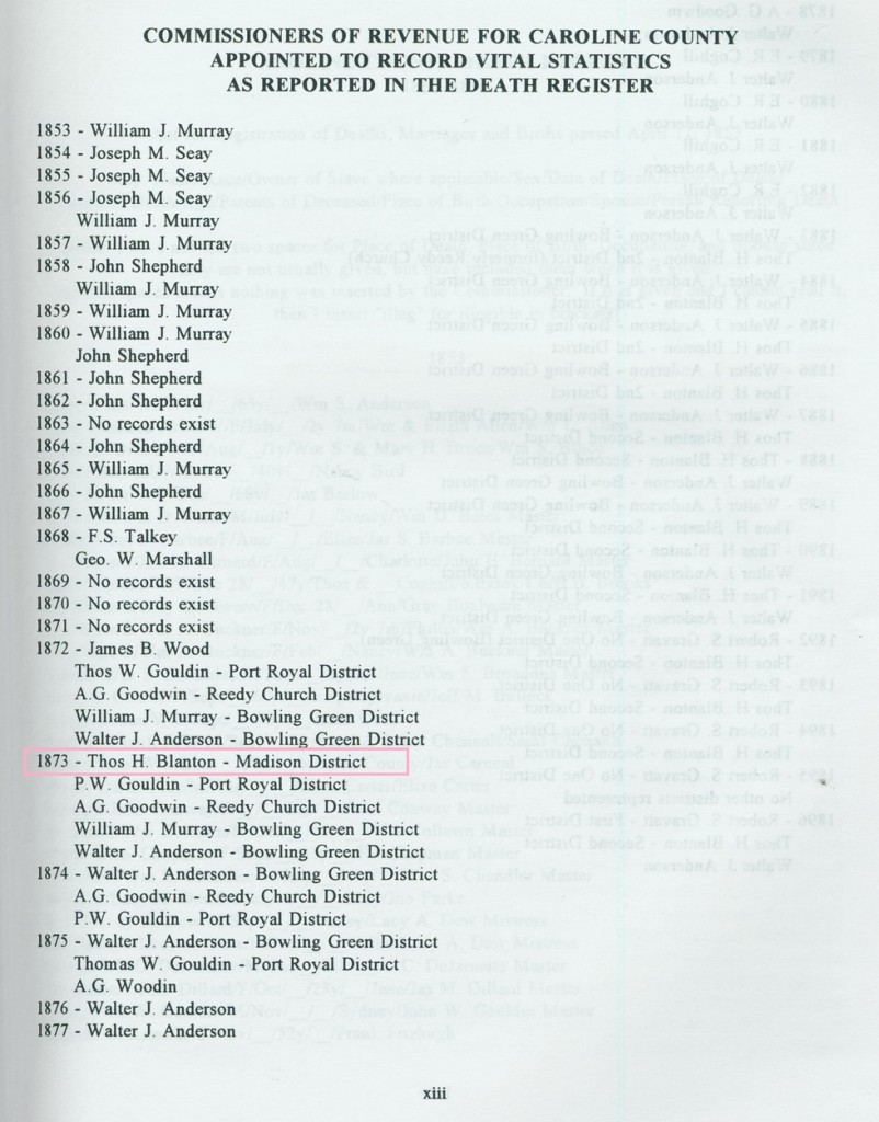 """As you can see in the highlighted area, one of the recorders has the surname """"Blanton."""""""