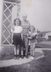 Grandma-great Elizabeth, Mom, and her cousin Ann.