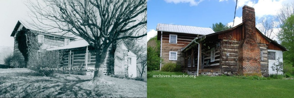 The Green Hickam House, in 1972 and 2015.