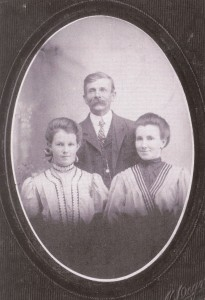 Nora, Brigham, and (Henri)Etta, circa 1909.