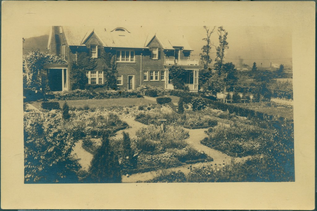 The Mead Corporate Residence, located on Watauga St., with gardens designed by Mrs. C. B. Mead, undated.