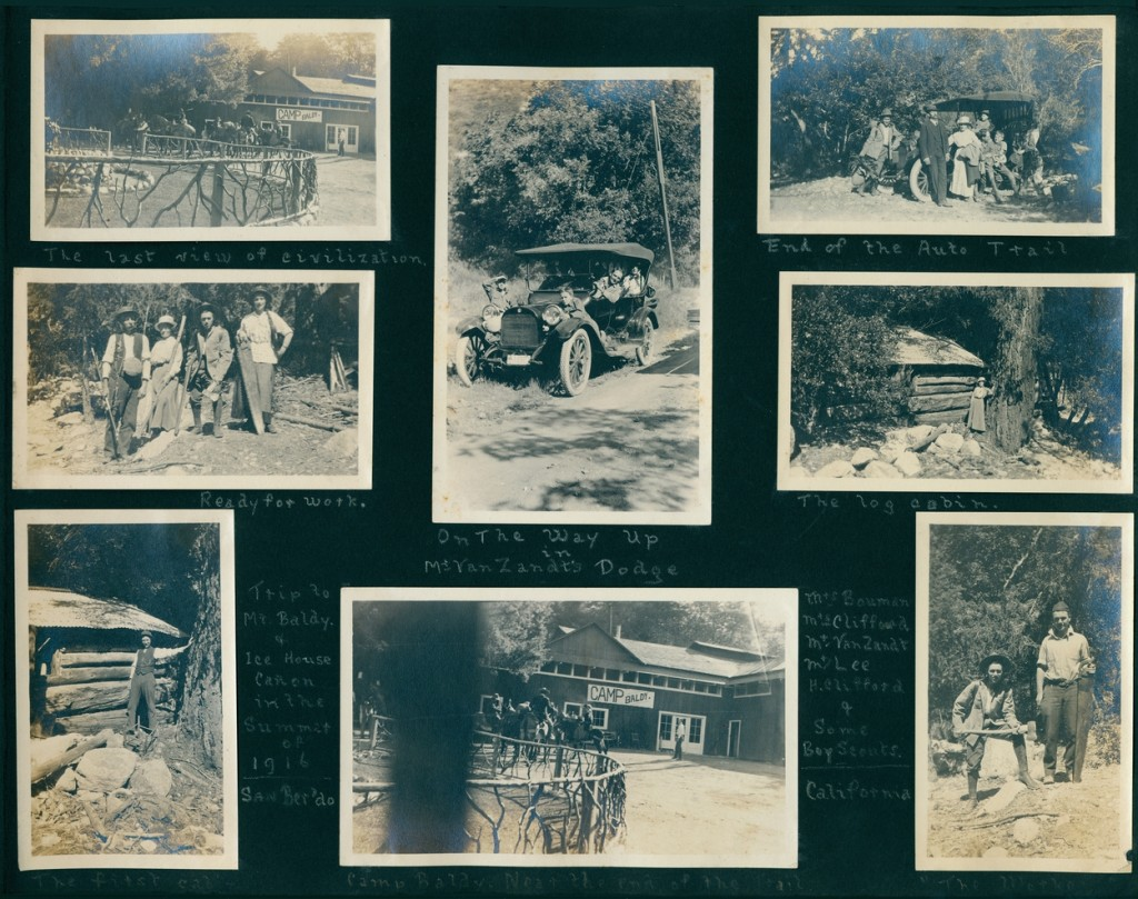 A trip to Mt. Baldy in the San Bernardino Mountains of California, 1916.