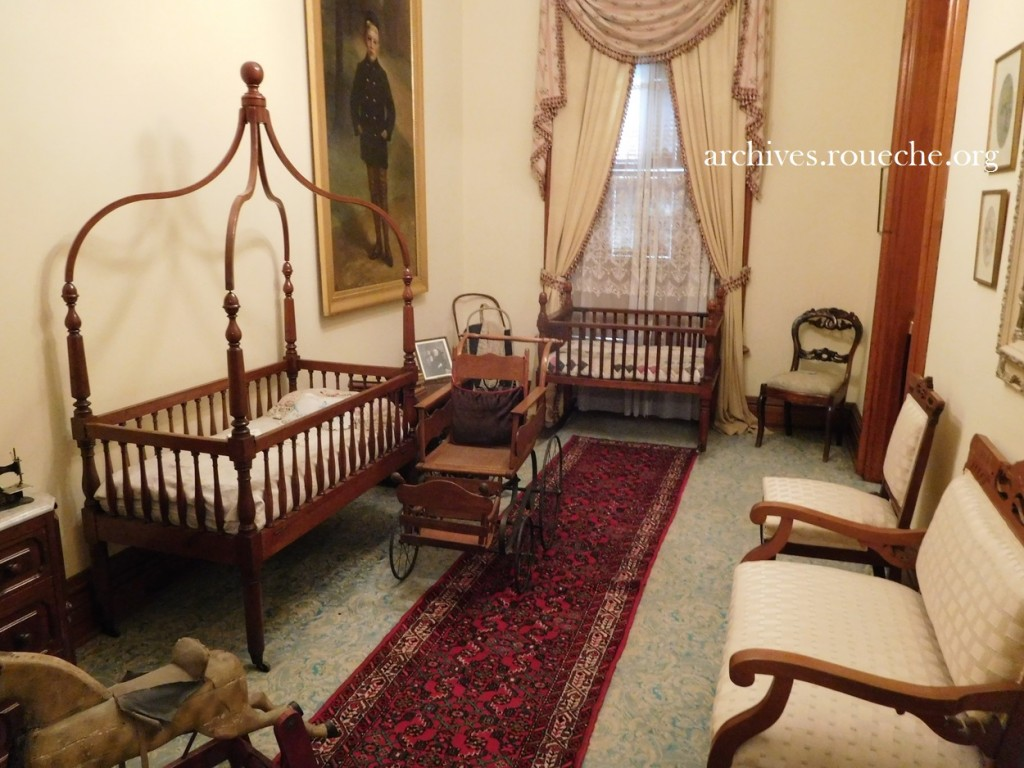 The cradle was originally owned by President William Harrison, Benjamin's grandfather.