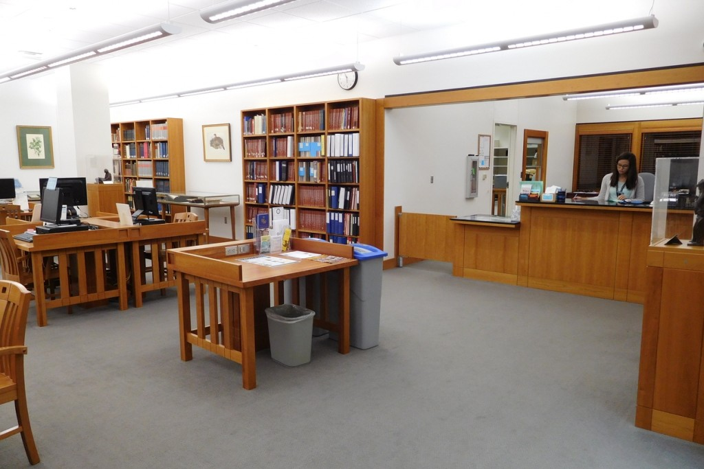 Reading room and collections desk