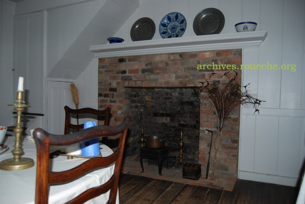 The warming kitchen served as the family's dining room.