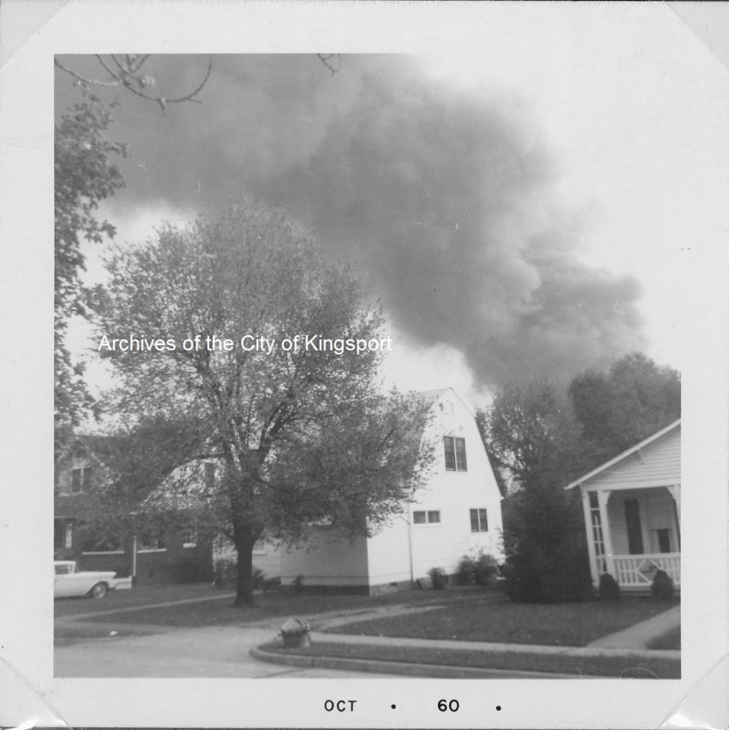 An image of the October 4, 1960 explosion from the Geraldine Byrd Collection.