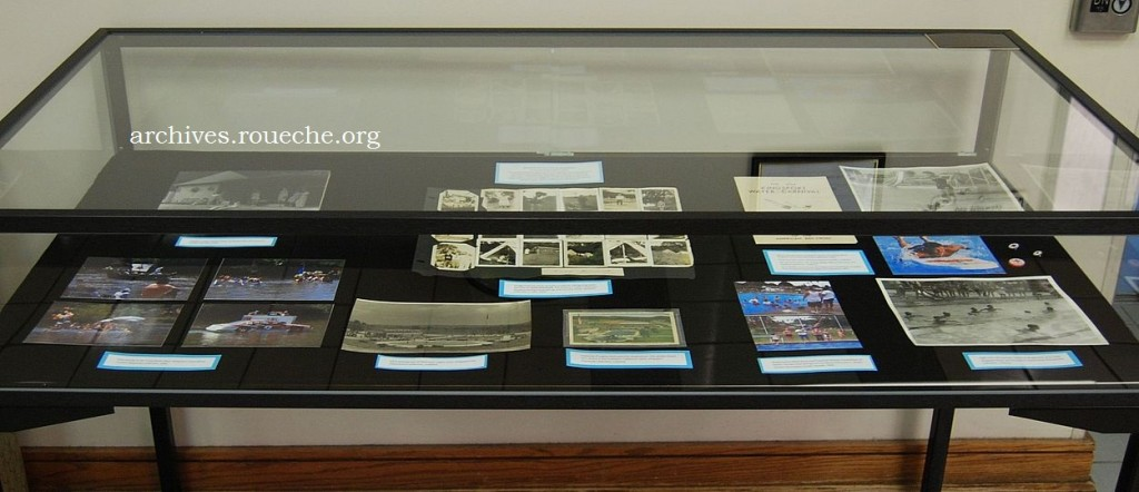 The exhibit is contained in two display cases on the main floor of the library.