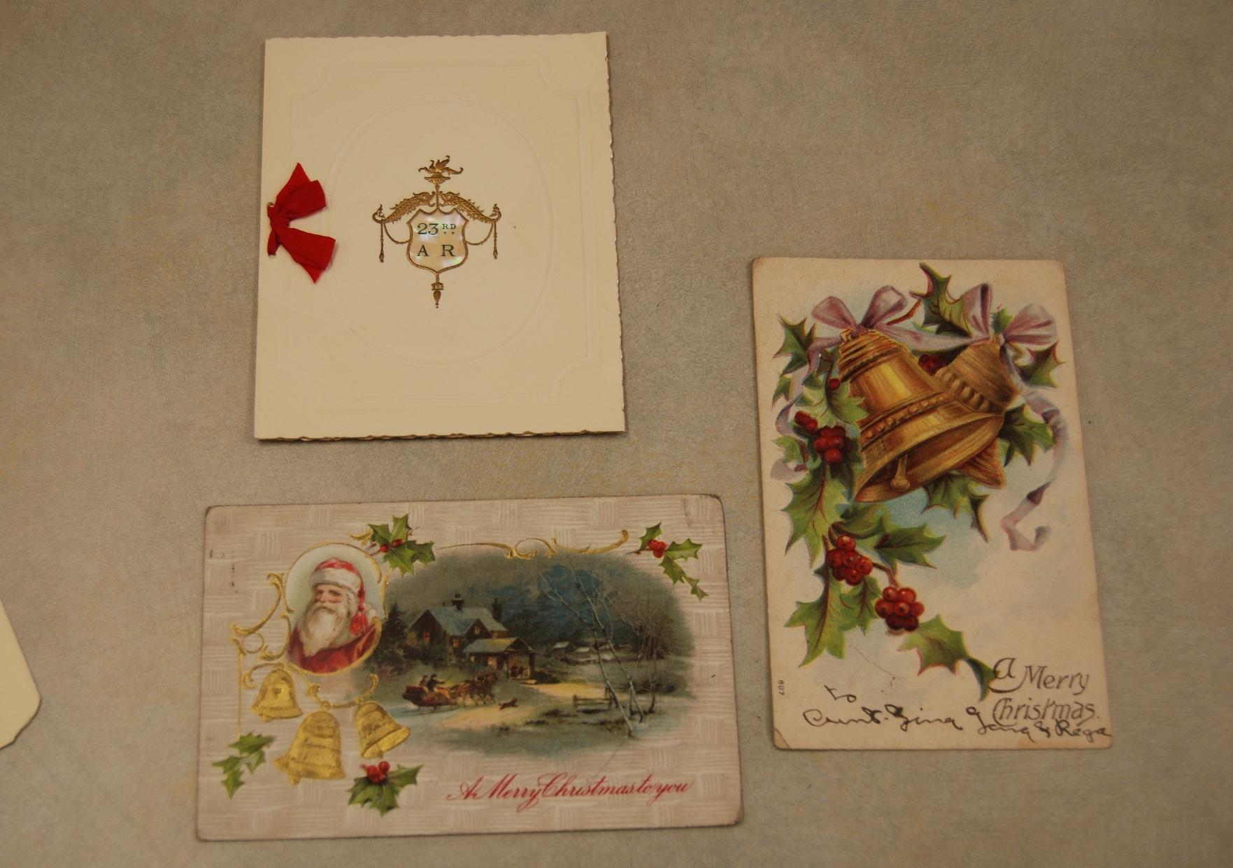 Turn of the century Christmas cards.